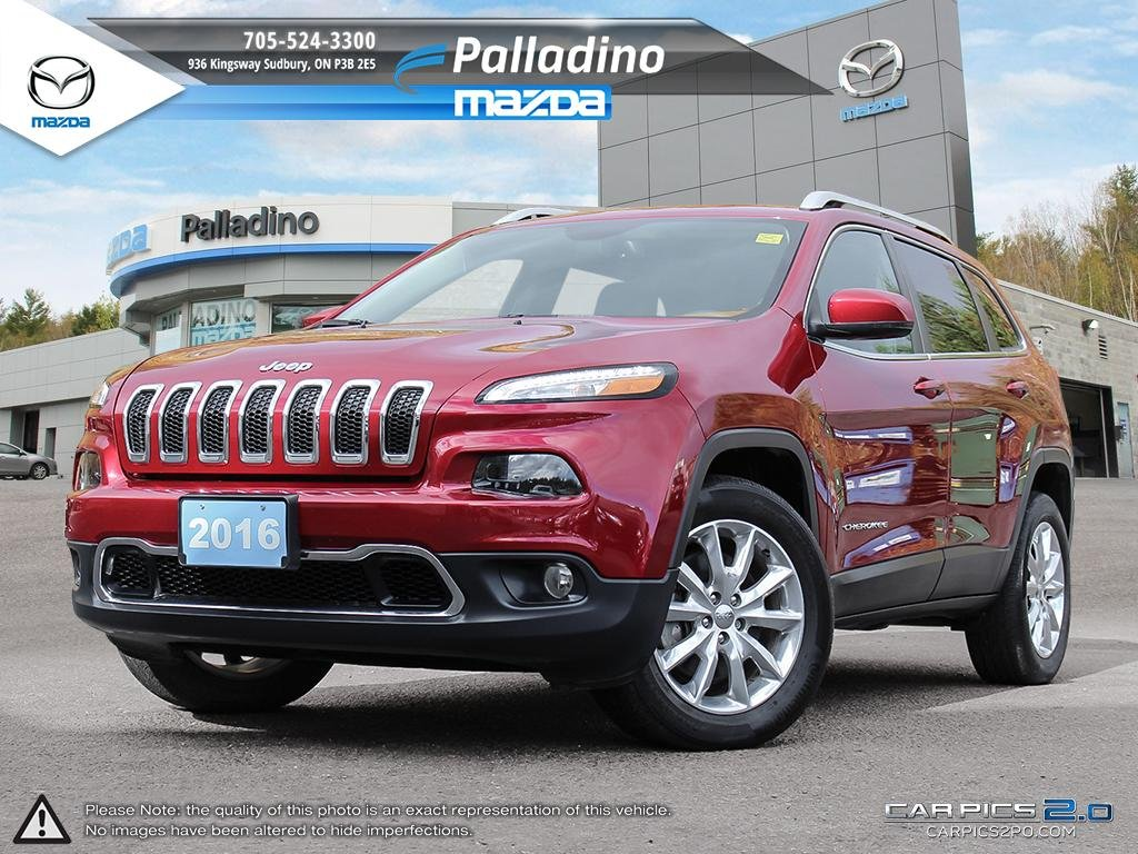 Certified Pre-Owned 2016 Jeep Cherokee Limited - HEATED SEATS AND STEERING WHEEL - CLEAN CARPROOF