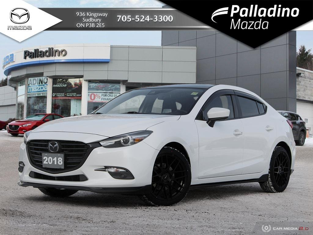 Pre-Owned 2018 Mazda3 GT - UPGRADED RIMS AND NEW TIRES - NEW BRAKES ALL AROUND