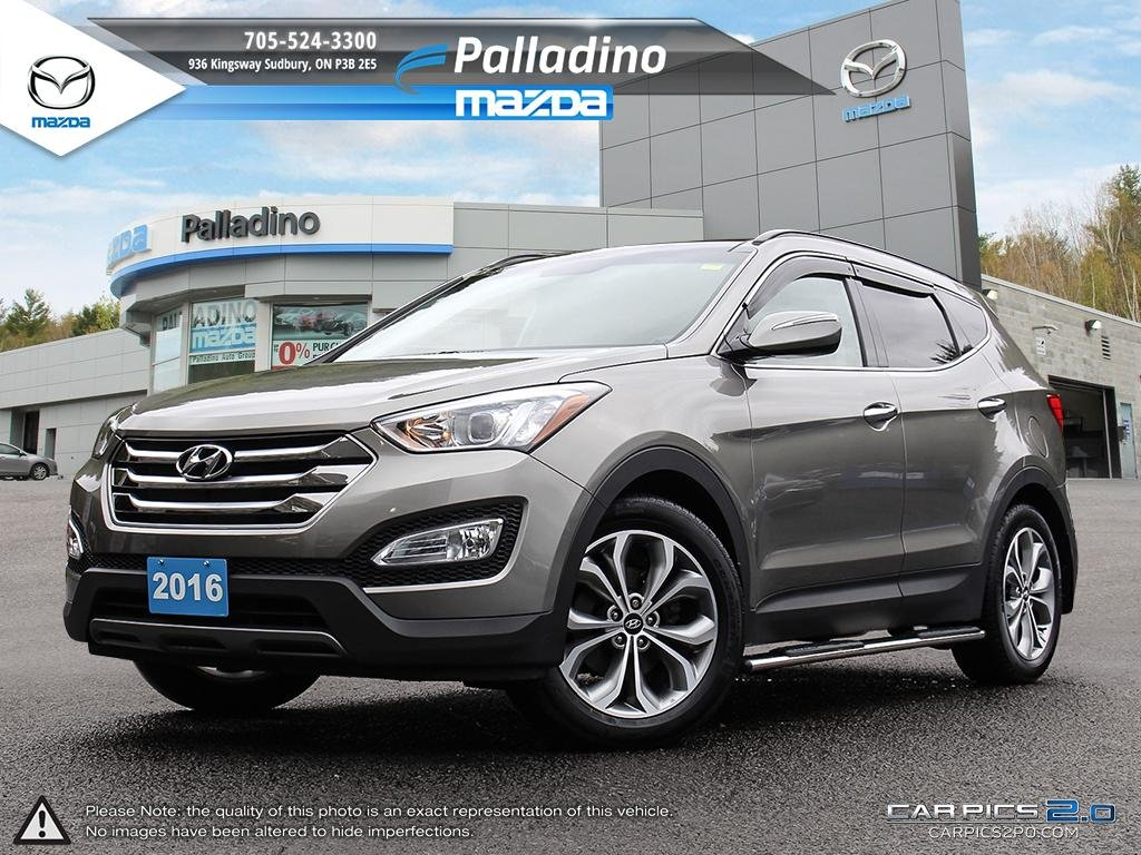 Certified Pre Owned 2016 Hyundai Santa Fe Sport 2.0T LIMITED   LEATHER    MOONROOF