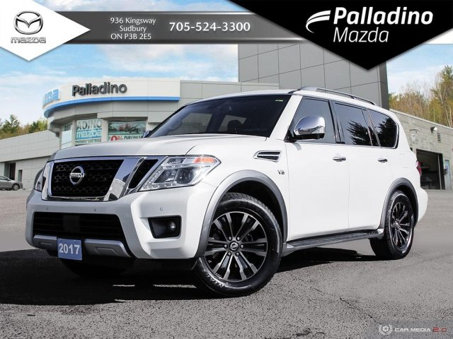 Pre-Owned 2017 Nissan Armada PLATINUM - REAR ENTERTAINEMENT SYSTEM - NEW TIRES - CERTIFIED