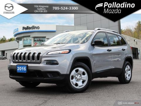 Pre-Owned 2016 Jeep Cherokee Sport - MULTI DRIVE 4WD - LOTS OF TRUNK SPACE